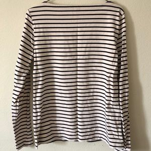 J. Crew Tops - J. Crew long sleeved boatneck striped shirt